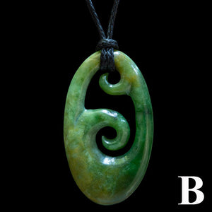 Flower Jade Koru (6 Colour Styles) - Zen Gifts NZ