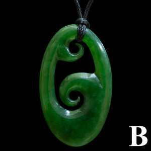 Large Flower Jade Koru (3 Colour Styles) - Zen Gifts NZ