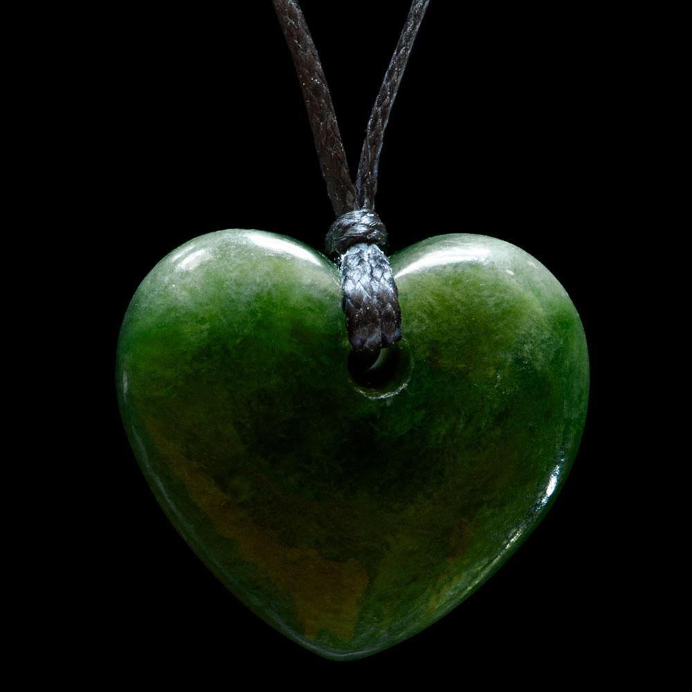 Small Dark Jade Heart by Ewan Parker - Zen Gifts NZ