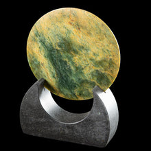 Load image into Gallery viewer, Flower Jade Disc Sculpture by Alex Sands - Zen Gifts NZ