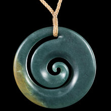 Load image into Gallery viewer, Large Guatemalan Jade Koru in Turned Wooden Box - Zen Gifts NZ