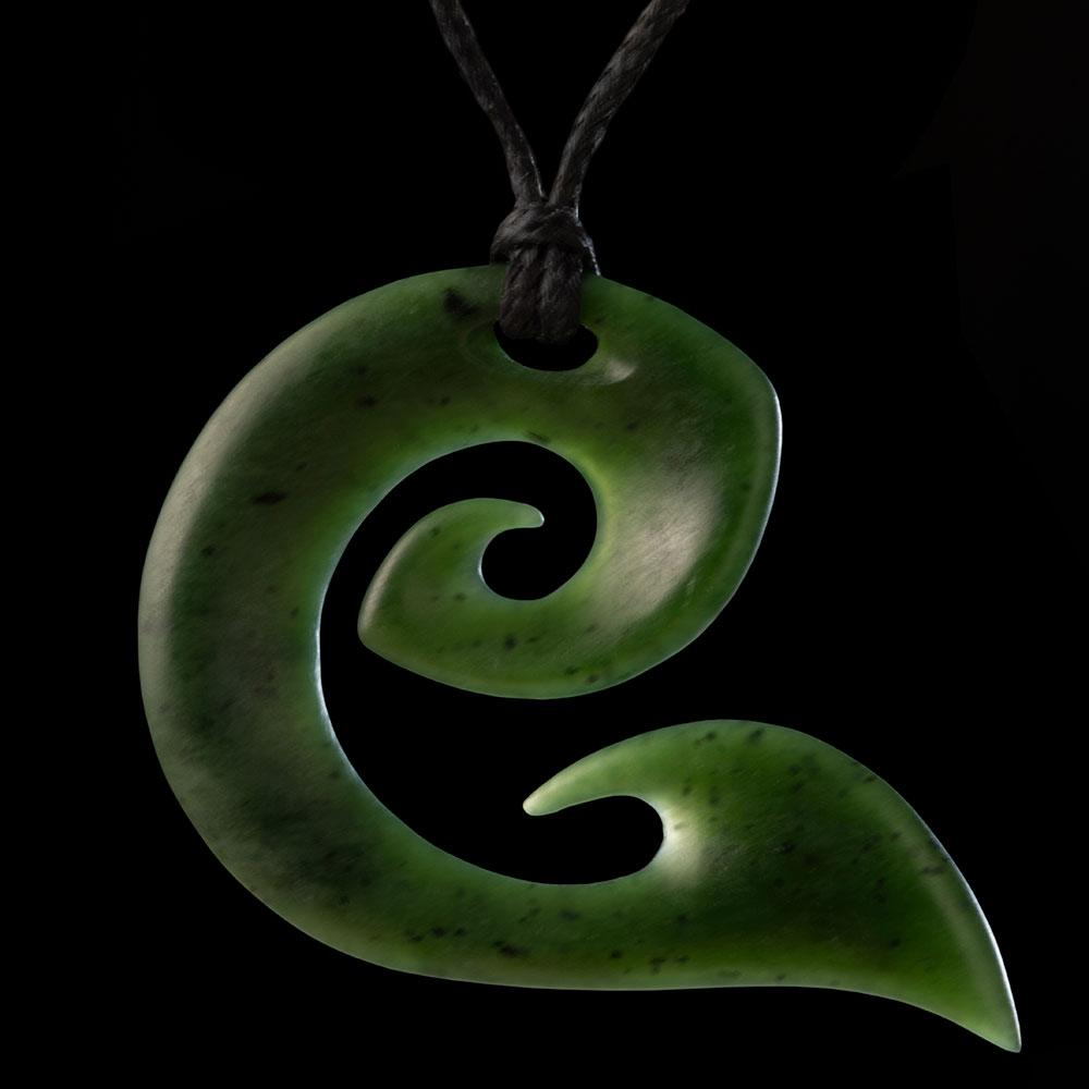 Large Jade Koru - Zen Gifts NZ