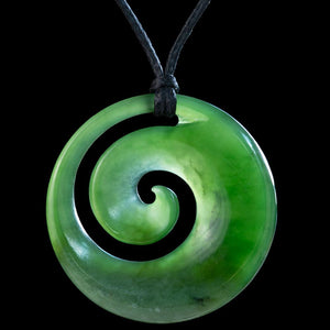 Small Flower Jade Koru Colin Davidson - Zen Gifts NZ