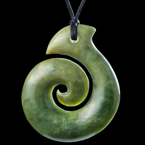 Flower Jade Koru - Zen Gifts NZ