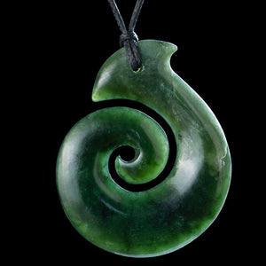 Dark Jade Koru - Zen Gifts NZ