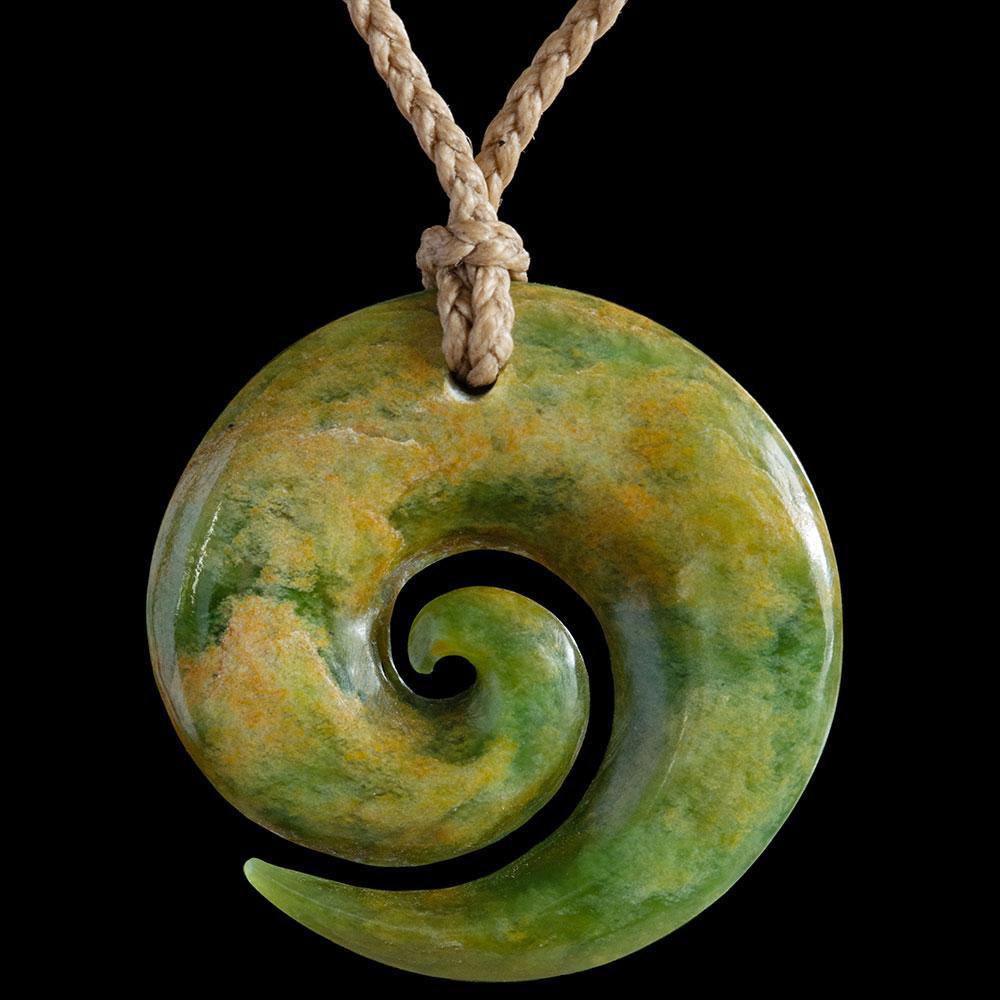 Flower Jade Koru by Colin Davidson - Zen Gifts NZ