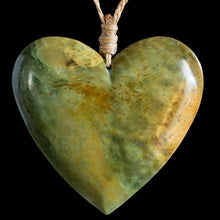 Load image into Gallery viewer, Huge Flower Jade Heart by Elliot Lewis - Zen Gifts NZ