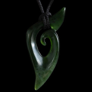 Dark Flower Jade Koru by Shaun Gardiner - Zen Gifts NZ