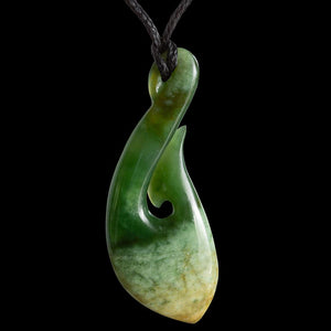 Flower Jade Matau by Ross Crump - Zen Gifts NZ