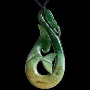 Huge Flower Jade Manaia by Ross Crump - Zen Gifts NZ