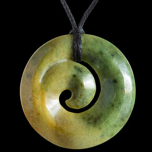 Flower Jade Koru by Elliot Lewis - Zen Gifts NZ