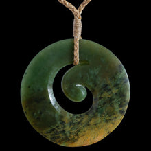 Load image into Gallery viewer, Large Flower Jade Koru - Zen Gifts NZ