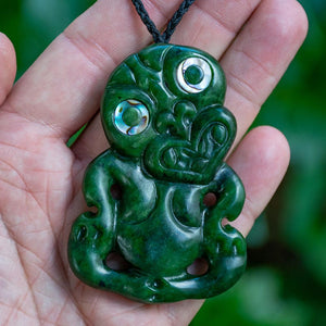 Large Dark Jade Tiki by Wayne Turnbull - Zen Gifts NZ
