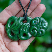 Load image into Gallery viewer, Large Jade Tiki by Wayne Turnbull - Zen Gifts NZ