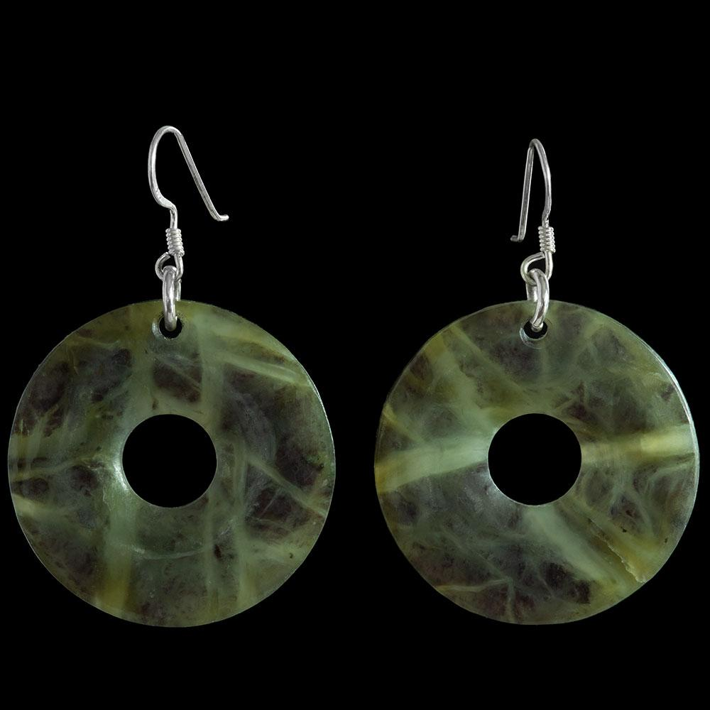 Tangiwai Pi Disc Earrings by Alex Sands - Zen Gifts NZ