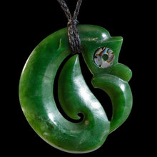 Load image into Gallery viewer, Large Jade Koropepe by Andrew Ralph - Zen Gifts NZ