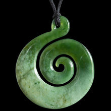 Load image into Gallery viewer, Large Flower Jade Koru by Ross Crump