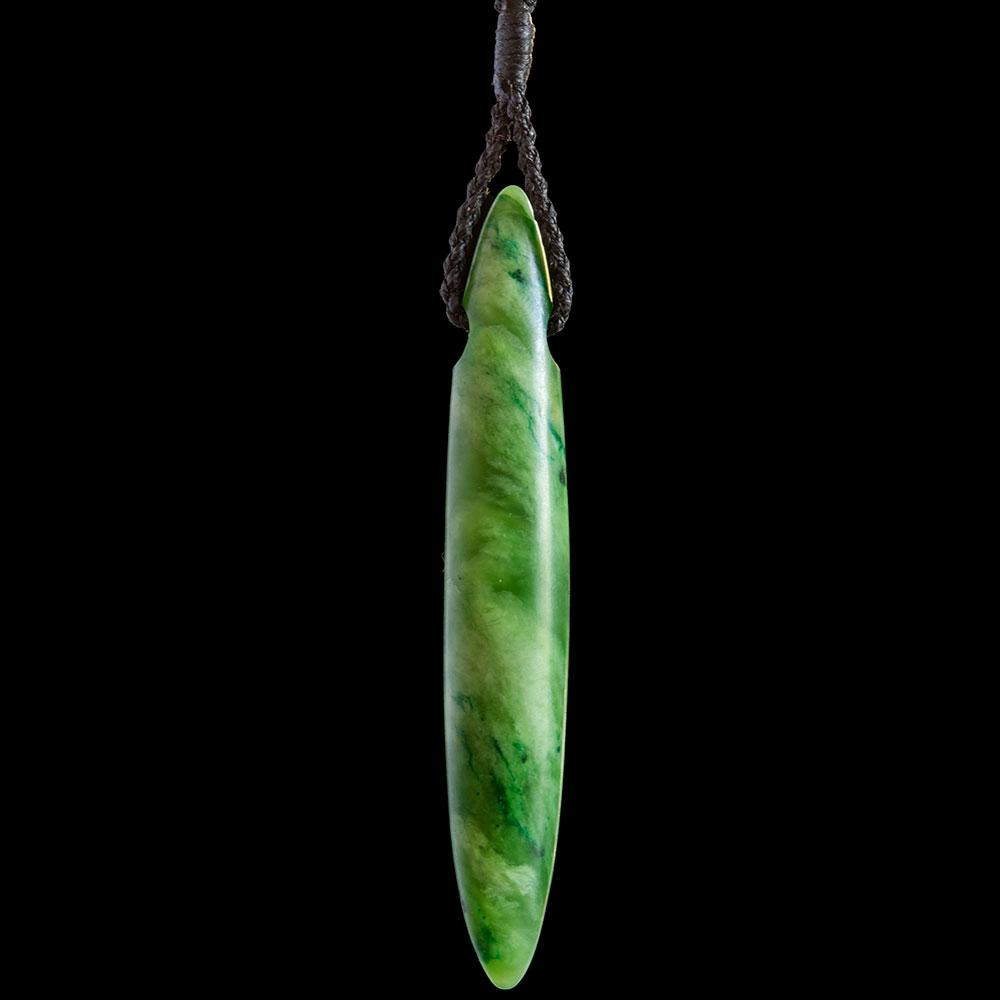 Large Flower Jade Drop by Nick Balme