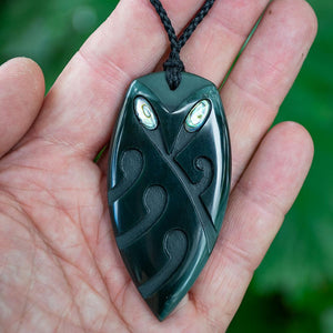 Large Black Jade Ruru by Kerry Thompson