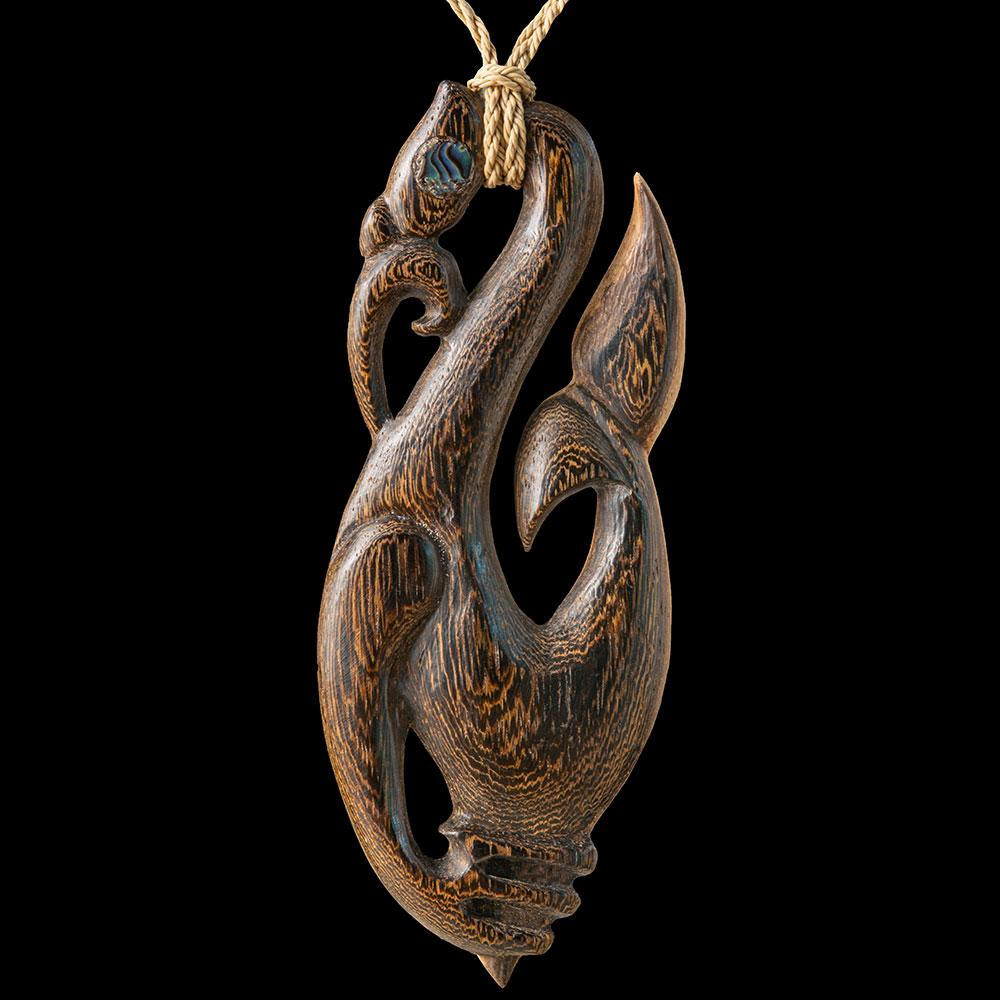 Huge Wooden Whale Tail Manaia - Zen Gifts NZ