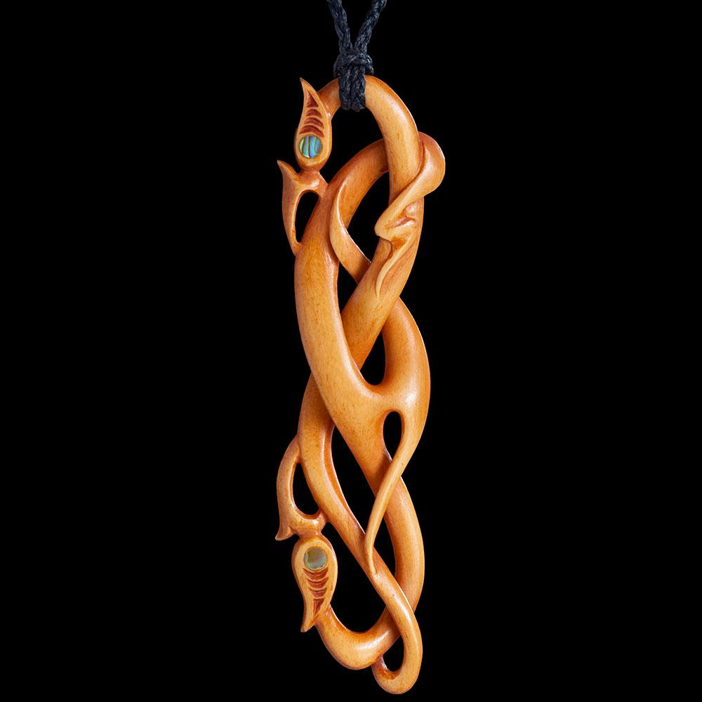 Large Stained Bone Twisting Vine Manaia - Zen Gifts NZ
