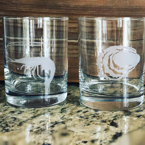 Sea Life Rocks Glassware Set