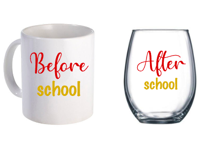 Before and After School Drinkware set
