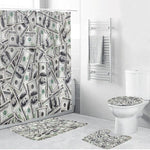 Ensemble de Rideau de Douche Dollars | Fun-rideau