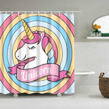 Rideau de Douche Animal <br> Licorne Disco - Fun-rideau