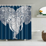 Rideau de Douche Animal <br> Couple d'Eléphants - Fun-rideau