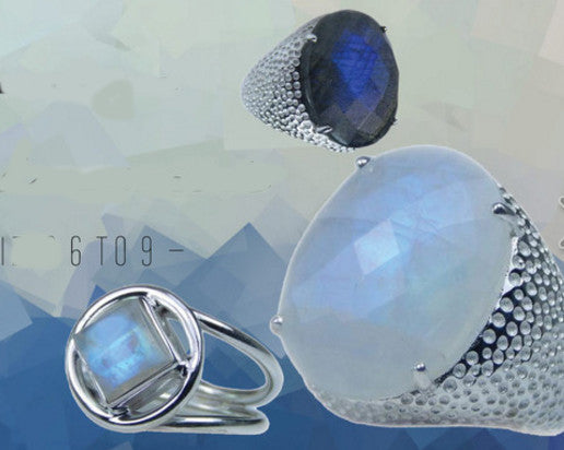 Moonstone Labradorite Silver Rings on Sale