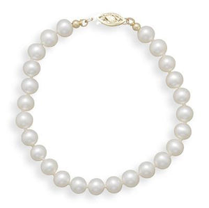 "8"" 6-6.5mm Cultured Freshwater Pearl Bracelet"