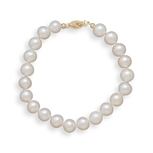 "7"" 7.5-8mm Cultured Freshwater Pearl Bracelet"