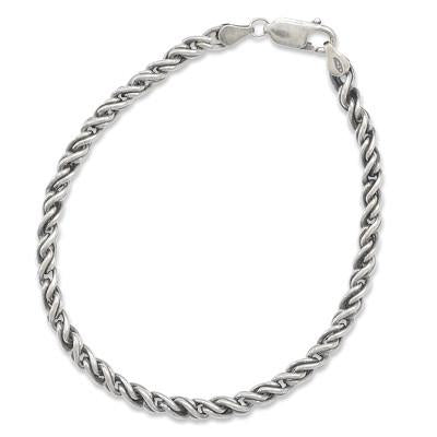 Men's Oxidized Rope Bracelet