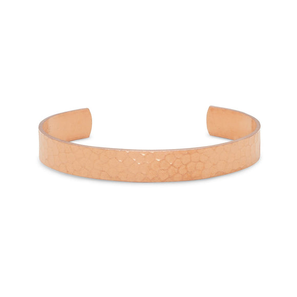9.5mm Hammered Solid Copper Cuff