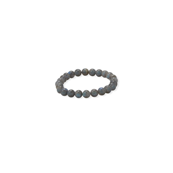8mm Round Labradorite Stretch Bracelet