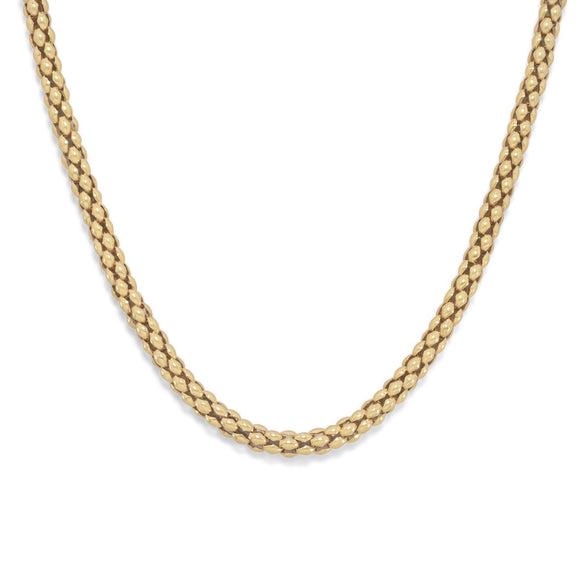 14 Karat Gold Plated Coreana Chain Necklace