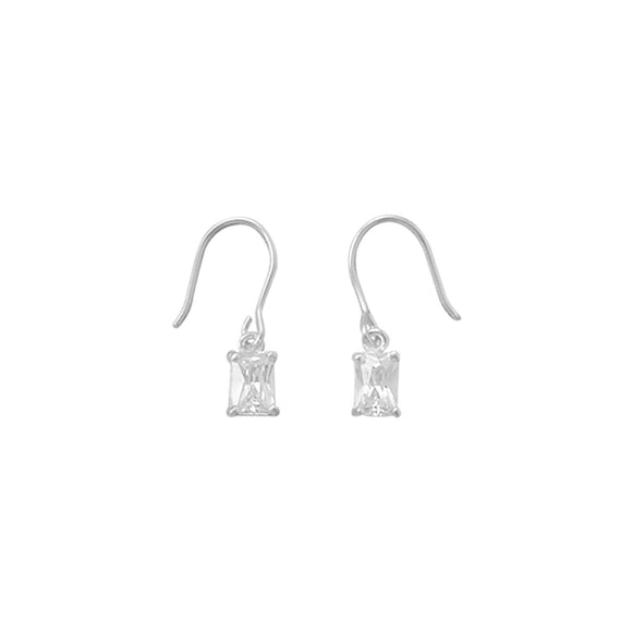 CZ Drop French Wire Earrings