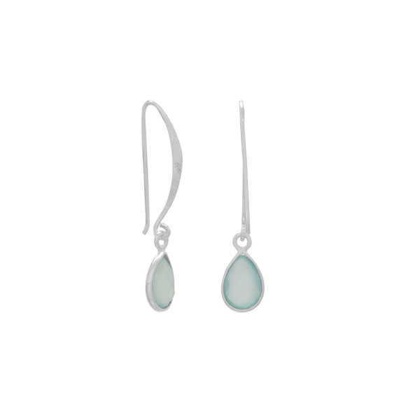 Chalcedony Wire Earrings