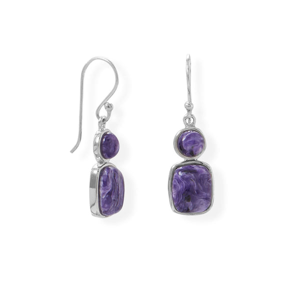 Multi Shape Charoite Earring