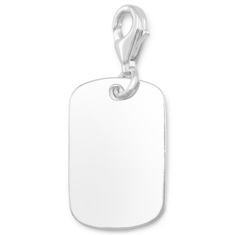 Engravable Tag Charm with Lobster Clasp