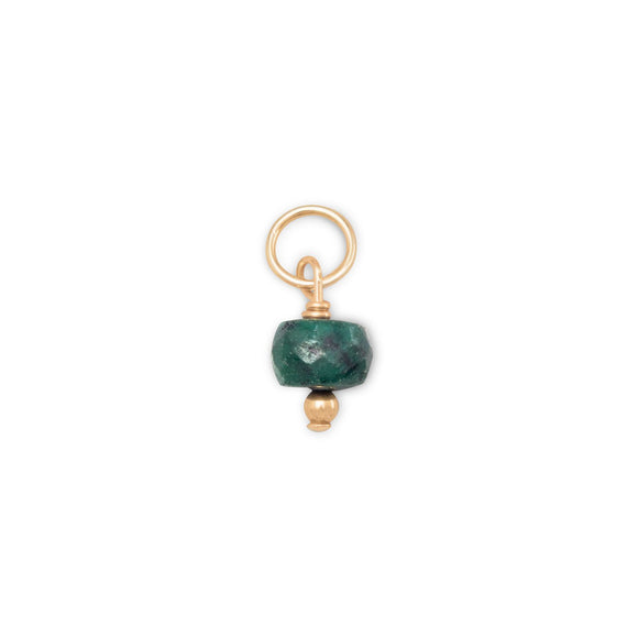 14/20 Gold Filled Corundum Charm - May Birthstone