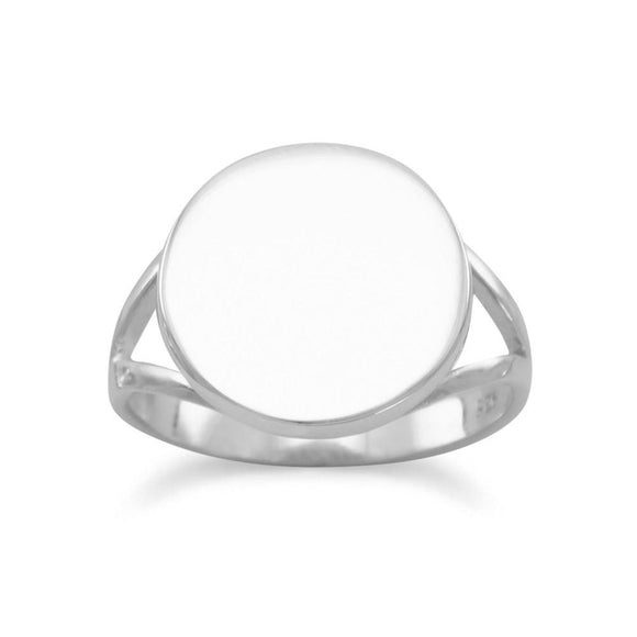 Round Engravable Ring with