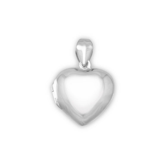 Small Polished Heart Locket