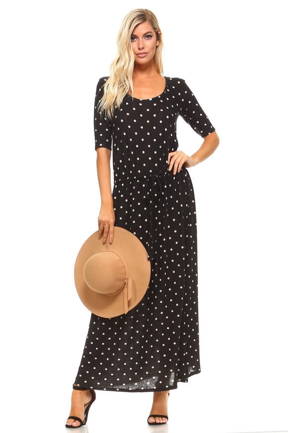 Women's Printed Hatchi Maxi Dress