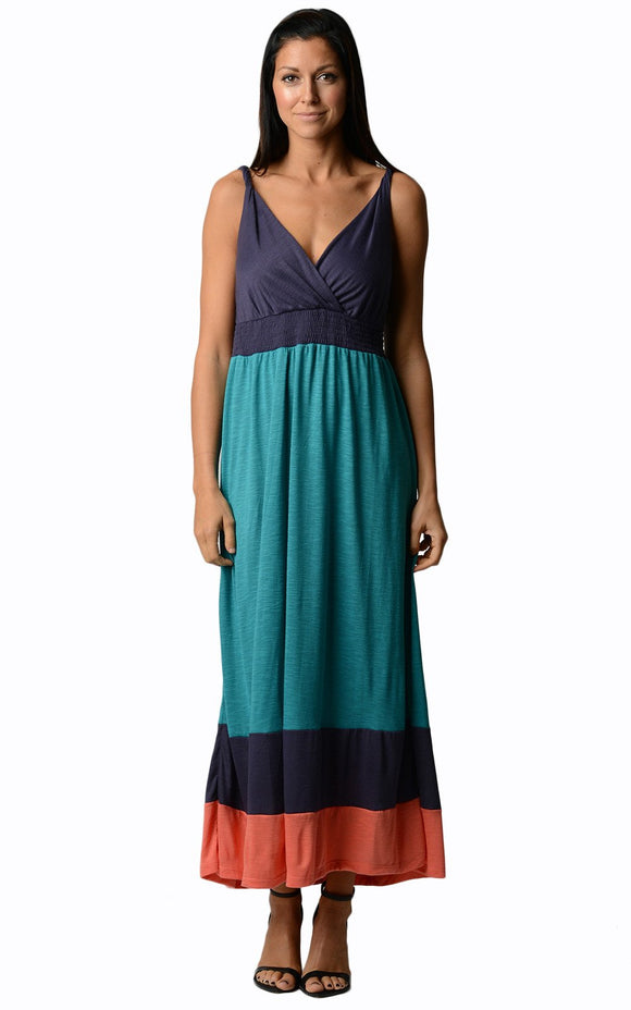 Women's Colorblock Maxi Dress