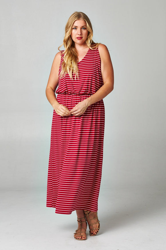 Women's Plus Size Blouson Maxi Dress