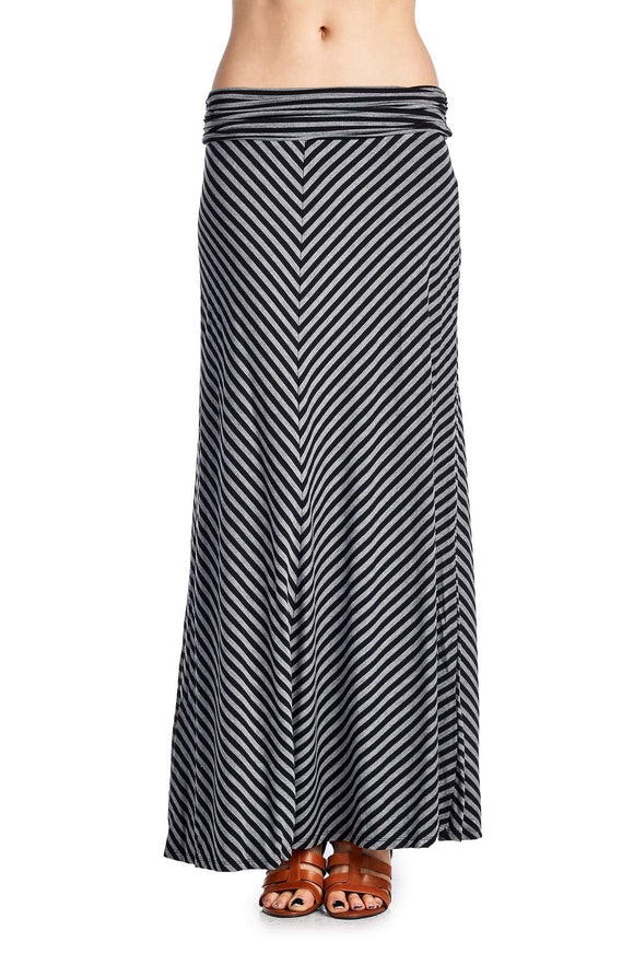Women's Chevron Stripe Maxi Skirt