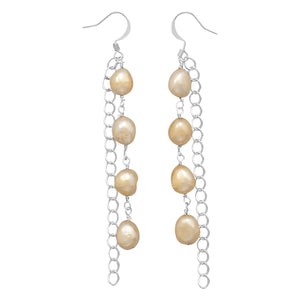 Cultured Freshwater Pearl Fashion Drop Earrings