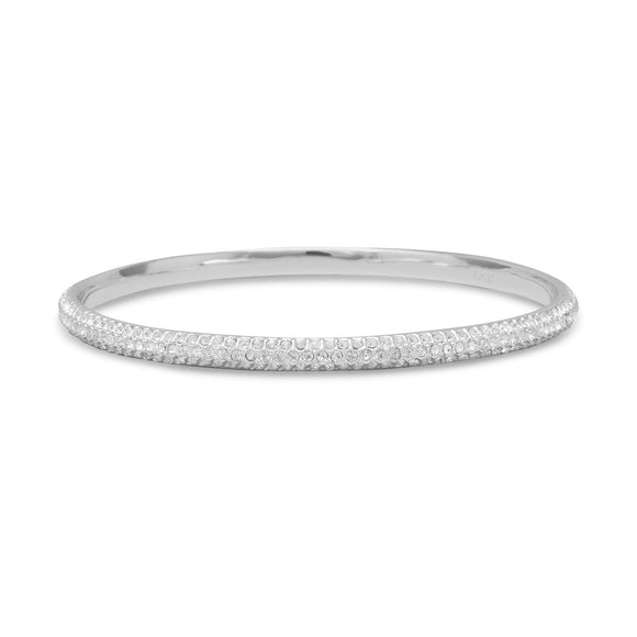 Crystal Domed Bangle Fashion Bracelet